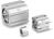 SMC CD55B100-80 Compact cylinder ø:100 mm Stroke:80 mm