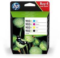 HP 903XL High Yield C/M/Y/K Original Ink Cartridge 4-pack