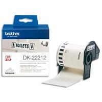 BROTHER Ruban papier adhésif continu Noir/Blanc largeur 62mm / longueur 15m DK22212