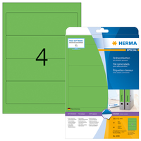 Ordnerrücken-Etiketten grün 192x61 mm Papier matt 80 St.