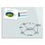 BE BOARD Tableau en verre trempé Blanc, magnétique, aimant et fixation fournie - Format : L120 x H90 cm