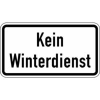 Modellbeispiel: Winterschild/Verkehrszeichen, Kein Winterdienst, Nr. 2001