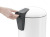 Tret-Abfallsammler, Hailo ProfiLine Solid Design L, tiefschwarz, 24 Liter, Inneneimer: verzinkt Bild 5