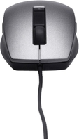 Mouse Laser 6 Button Scroll Silver & Black Geheugen