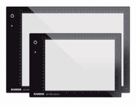 290 x 200 x 8mm Light Boxes slimlite plano Dimensions Illuminated area (W x D) 220 x 160 mm Lighting 23 LEDs