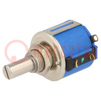 Potentiometer: axial; multiturn; 10kΩ; 1,5W; ±5%; 6,35mm; linear