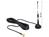 GSM / UMTS Antenne SMA 3 dBi omnidirektional mit magnetischem Standfuß starr schwarz, Delock® [88879]