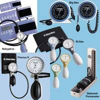 Manometer f. Blutdruckmessgerät ri-san,1-Schlauch, blau