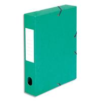 5 ETOILES Bo�te de classement � �lastique en carte lustr�e 7/10, 600g. Dos 60mm. Coloris vert.