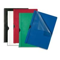 5 ETOILES Paquet de 25 chemises de présentation à clip, Capacité 30 feuilles. Coloris rouge.
