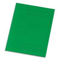 5 ETOILES Paquet de 50 sous-dossiers pour dossiers-suspendus. 2 rabats. Coloris vert.