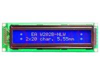 Display: LCD; alphanumeric; STN Negative; 20x2; blue; LED; 116x37mm