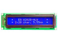 Kijelző: LCD; alfanumerikus; STN Negative; 20x2; kék; LED; 116x37mm