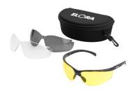 Sicherheitsbrille 3 in 1, ELORA-887, mit 3 auswechselbaren Kunststoffgläsern