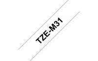 TZe-Schriftbandkassetten TZe-M31, schwarz auf farblos matt Bild1