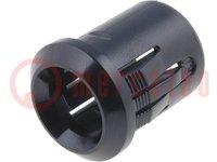 LED fogó; 8mm; műanyag; domború