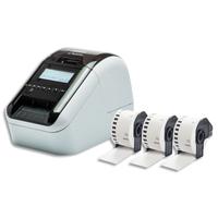 BROTHER Imprimante d'étiquettes QL820NWBVM + 3 rouleaux DKN55224 inclus