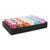 CLAIREFONTAINE Plateau de 24 bolduc œufs lisses 10mx7mm. 6 coloris classiques assortis
