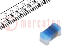 Inductor: wire; SMD; 0402; 7.5nH; 570mA; 0.13Ω; Q:25; ftest:100MHz