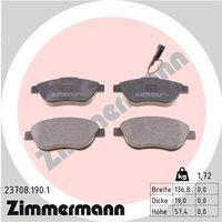 Brake Pad Set, disc brake, ZIMMERMANN, 23708.190.1