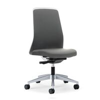 Krzesło obrotowe dla operatora EVERY, oparcie Chillback, białe