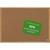 BI-OFFICE Tableau d'affichage Earth en Liège, cadre en bois, recyclé, visserie fournie Format L60xH45 cm