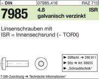 Linsenschrauben M6x25-T30