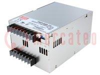 Tápegység: impulzusos; modul; 600W; 15VDC; Ukim:13,5÷18VDC; 40A