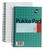 Pukka Pad Metallic Jotta Nbk Wirebound 80gsm Ruled Perforated 200pp A5 Metallic Green Ref JM021 [Pack 3]