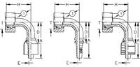AEROQUIP 1S16DLB8