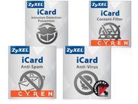 ZyXEL E-iCard 1 J. USG1100 & ZyWall1100 Cont/Spam/Kasp/IDP