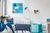 Be!Board Glas-Magnettafel, 45x45 cm, blau
