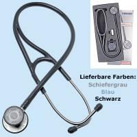 Stethoskop cardiophon, blau, Bruststück aus rostfreiem Stahl