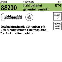 ART 88200 RST mit LIKO & Pozidriv Z 5 x 12 -Z Stahl geh., gal Zn gal Zn S