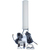 4G MIMO antenne waarmee u de maximale snelheid uit uw 4G LTE router haalt. Met 2 kabels van elk 10 meter lengte. Inclusief beugel voor montage aan wand, paal of mast.