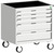 Produktbild - cubio Schubladenschrank mobil bestückt mit 5 Schubladen BxTxH: 800x525x880mm