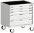 Produktbild - cubio Schubladenschrank mobil bestückt mit 5 Schubladen BxTxH: 800x525x880mm RAL 7035