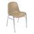 Chaise Coque Beta Beige sans accroche, piètement en acier chromé, empilable 40 x 40 cm, hauteur 81cm