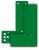 Montageplatte an Glasrahmen, für kurze und normale Türschilder, grün