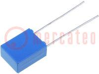 Kondensator: Polyester; 1uF; 40VAC; 63VDC; Rastermaß:5mm; ±10%