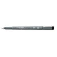 STAEDTLER Stylo feutre noir pointe calibrée PIGMENT LINER largeur de trait 0,5 mm