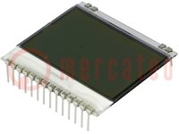 Kijelző: LCD; grafikus; FSTN Positive; 102x64; fehér; 39x38,1mm
