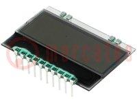Kijelző: LCD; alfanumerikus; FSTN Positive; 10x2/10x4; fehér