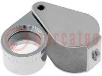 Folding magnifier; Mag: x6; Lens diam:15mm