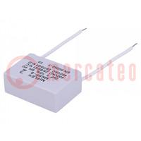 Kondensator: für Motoren, Betrieb; 2uF; 400VAC; 41,4x28,5x16mm