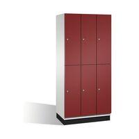 CAMBIO rekeszes szekrény HPL-ajtókkal és ruhaakasztó rúddal