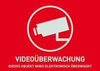 ABUS Warnaufkleber Videoberwachung (ohne Logo) 148 x 105 mm (Art.-Nr. AU1320)