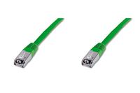 DIGITUS CAT 5e SF-UTP patch cable. Cu AWG 26/7. Color green. Length 3m