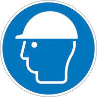 Gebotsschild,Alu,Kopfschutz benutzen,Größe: 10,0 cm DIN EN ISO 7010 M014 ASR A1.3 M014