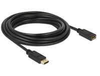 DeLOCK 83812 DisplayPort-Kabel 5 m Schwarz